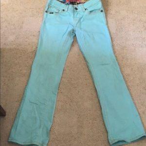 Adiktd light turquoise jeans
